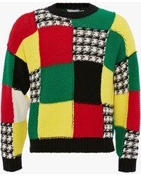 JW Anderson Cotton Patchwork Sweater - Black