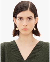 JW Anderson Crystal Loop Earrings - Metallic