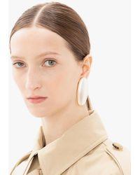 JW Anderson Oval Pearl Earrings - White