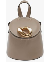 JW Anderson Lid Bucket Bag - Grey
