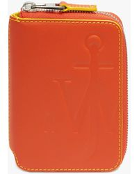 JW Anderson Anchor Logo Medium Wallet - Orange