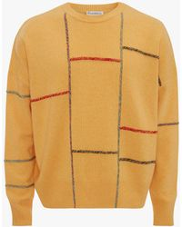JW Anderson Patchwork Darning Jumper - Yellow