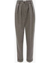JW Anderson Houndstooth Carrot Trousers - Black