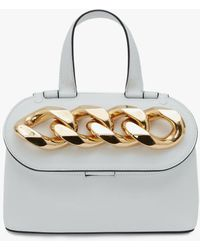 JW Anderson Small Chain Lid Bag - White