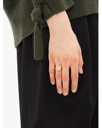 JW Anderson Crystal Loop Ring - Metallic