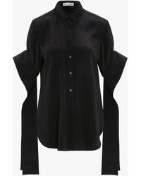 JW Anderson Round Hem EXAGGERATED Sleeve Shirt - Black