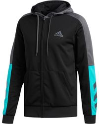 adidas - Basketball Action Full Zip Hoody - Lyst