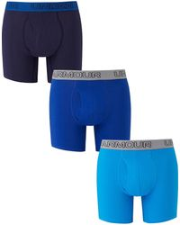 Under Armour - Cotton 6inch 3 Pk Boxers - Lyst