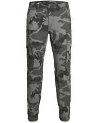 Jack & Jones - Paul Flake Camouflage Pantalon Cargo - Lyst
