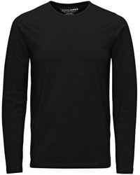 Jack & Jones Basic Lange Mouw T-shirt - Zwart
