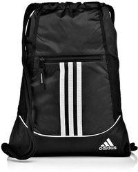 Lyst - adidas Orange   Black Alliance Sack Pack in Blue 3dc6edfdd111a