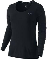 On - Women's Nike Dri-fit Ctour Lg Sleeve Shirt - Lyst