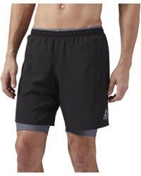 Reebok - Running Essentials 2-in-1 Shorts - Lyst