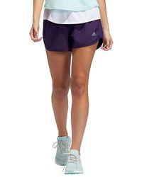 "On Adidas 4"" Marath 20 Shorts Availability: In Stock $29.95 - Purple"