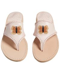 Jack Rogers - Embroidered Butterfly Sandal - Lyst