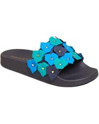 Jack Rogers Flower Pool Slide - Blue