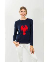 Jack Rogers Lobster Cashmere Sweater - Blue