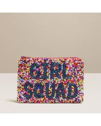 Jack Rogers Girl Squad Beaded Coin Purse - Blue