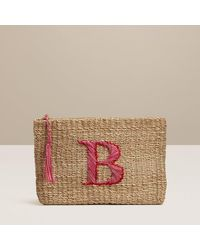 Jack Rogers Initial Straw Pouch - Letter B - Multicolour