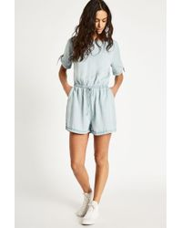 Jack Wills - Hayes Chambray Playsuit - Lyst