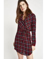 Jack Wills - Millgate Checked Wrap Shirt Dress - Lyst