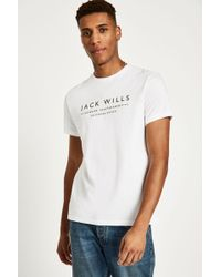 Jack Wills - Westmore Graphic T-shirt - Lyst