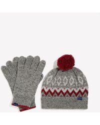 Jack Wills - Everest Fairisle Hat And Gloves Set - Lyst