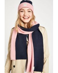Jack Wills - Hawberk Colour Block Hat And Scarf Set - Lyst