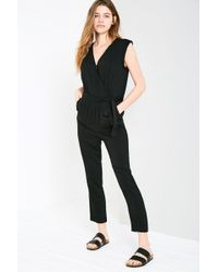 Jack Wills - Greencroft Wrap Front Jumpsuit - Lyst