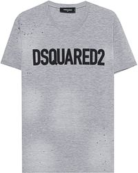 DSquared² - Destroyed Shirt Grey - Lyst