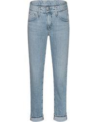AG Jeans Ex Boyfriend Slim Light Blue - Blau