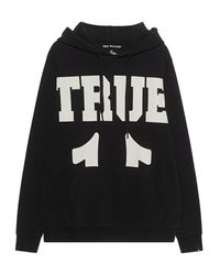True Religion Logo Hooded Black - Schwarz