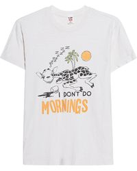 RE/DONE - I Don't Do Mornings Off-White - Lyst