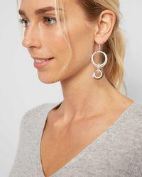 Jaeger Melissa Metal And Crystal Loop Earrings