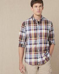 Jaeger Madras Twill Check Shirt - Multicolour