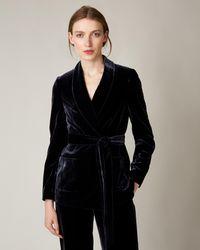 Jaeger - Velvet Shawl Collar Jacket - Lyst