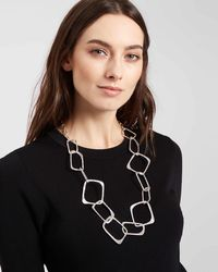 Jaeger - Susy Square Loop Necklace - Lyst