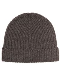 Jaeger - Ribbed Cashmere Beanie - Lyst