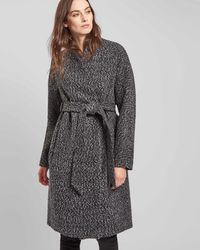 Jaeger | Belted Collarless Coat | Lyst