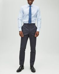 Jaeger - Slim Mouline Plain Weave Trouser - Lyst