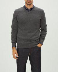 Jaeger Cashmere V Neck Sweater - Gris