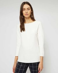 Jaeger - Fluted Cuff Jersey Top - Lyst