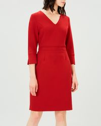 Jaeger - Piping Detail Dress - Lyst