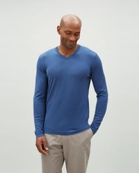 Jaeger - Men's Fine Knitted V With Straight Edge - Lyst