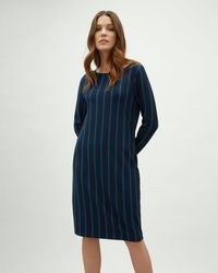 Jaeger - Double Stripe Ponte Dress - Lyst