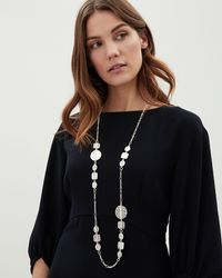 Jaeger - Rebecca Ridge Disc Station Necklace - Lyst