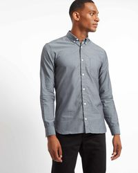 Jaeger - Cotton Casual Mouline Shirt - Lyst
