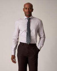 Jaeger Slim Burgundy Bold Stripe Shirt - Multicolour