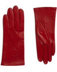 Jaeger Short Leather Gloves - Red