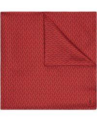 Jaeger - Silk Straw Print Pocket Square - Lyst